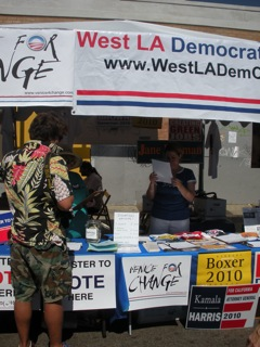 Voter registration booth #1